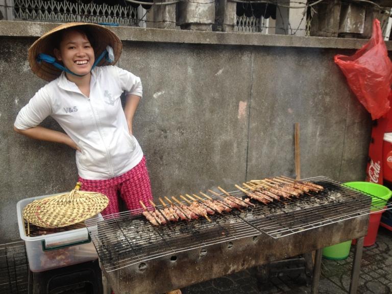 Street food is everywhere in Saigon