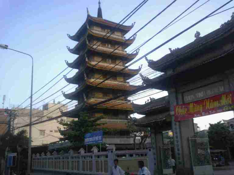 One of many cool pagodas in Saigon