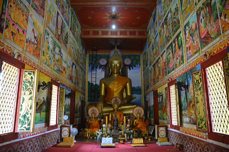 Buddhism is prominent in Vientiane