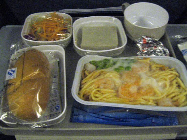 Meal time in economy class