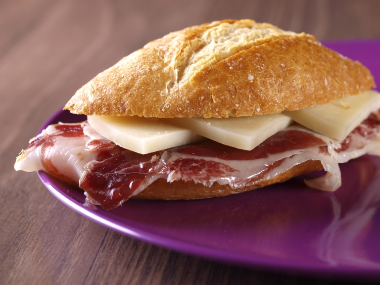 Bocadillo is a popular snack in Barcelona