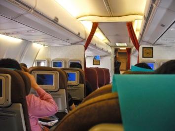 Garuda's economy cabin on the A330
