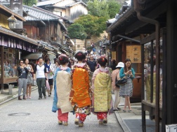 Geisha in Kyoto's Gion district