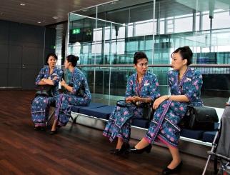 Malaysian cabin crew are very elegant