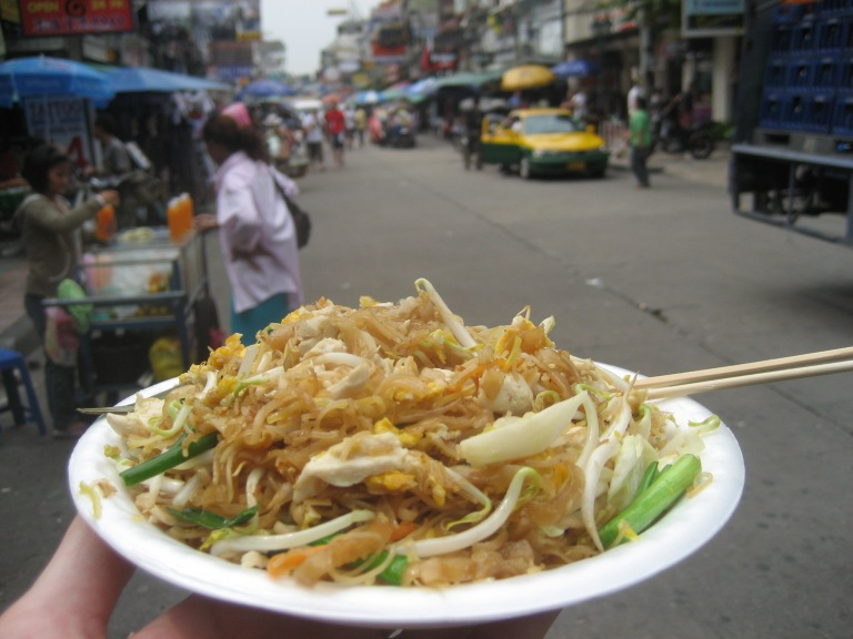 Pad Thai can be eaten on the move