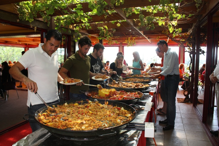 Paella is sold all over Europe - but it was created in Spain