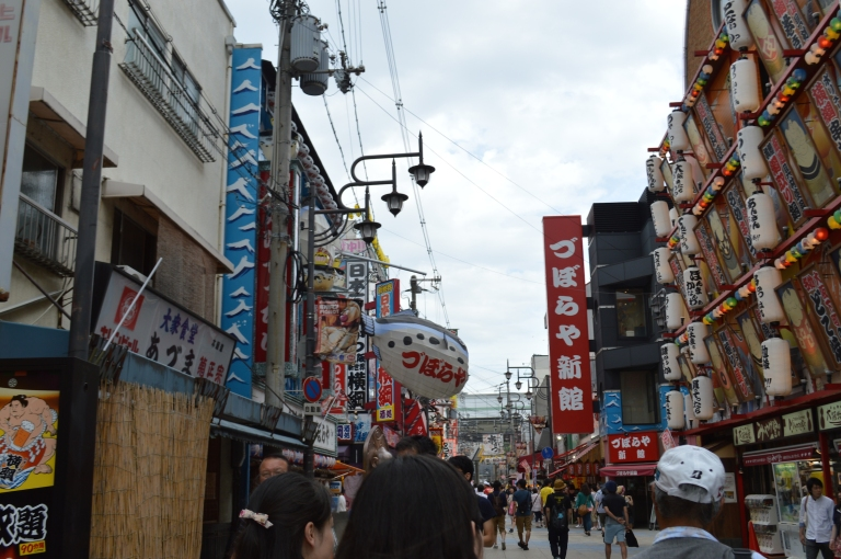 Shinsekai is a crazy area of Osaka