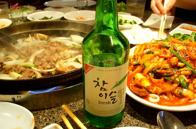 Soju is great with KFC!