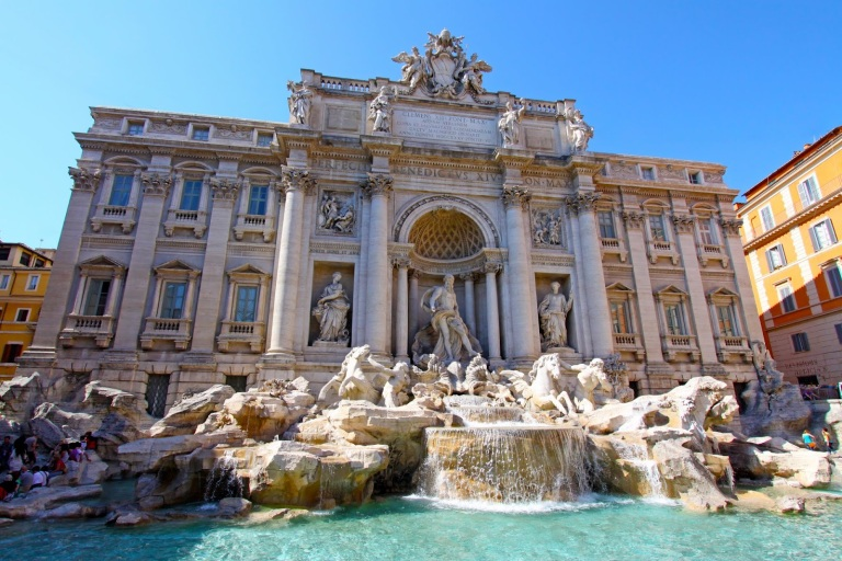 Trevi Fountain in summer 2015