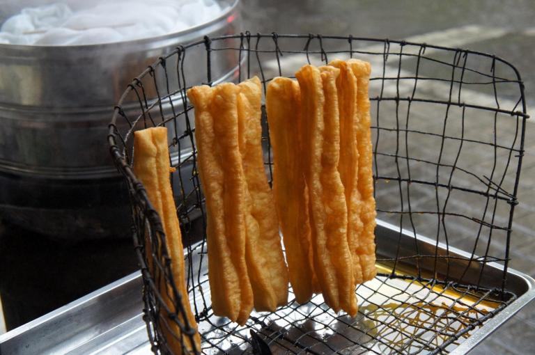 Youtiao sold as street food
