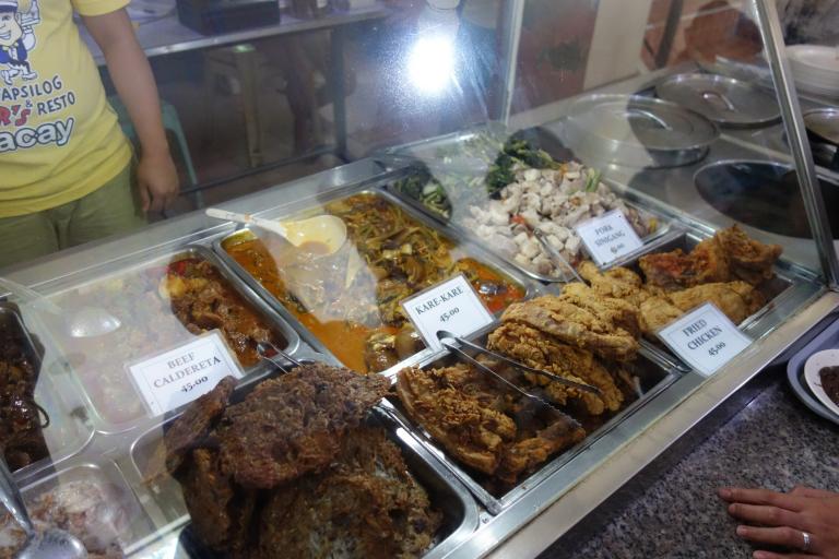 Plenty of Filipino food on offer in Boracay