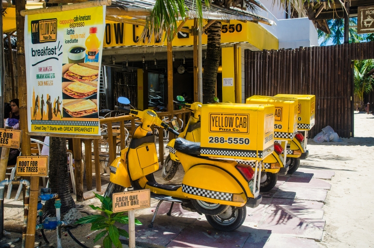 Pizza Delivery in Boracay