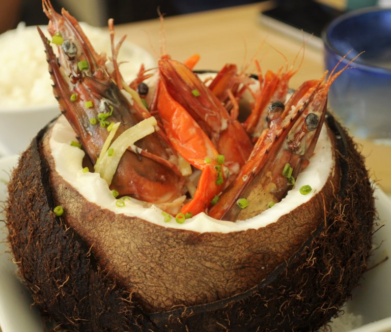 Ginataang Sugpo (Prawns in Coconut Milk)