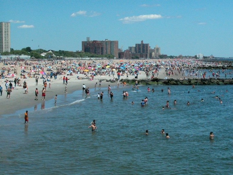 The beach at Coney Island