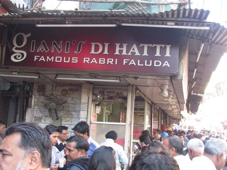 Waiting for some Falooda in Chandni Chowk, Delhi