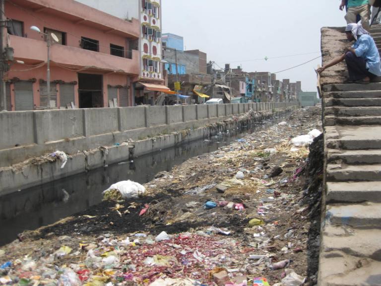 Part of Delhi's slums