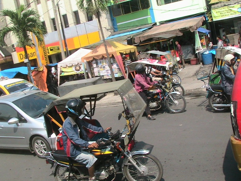 Around Medan, small bike-taxis (ojek) will transport you