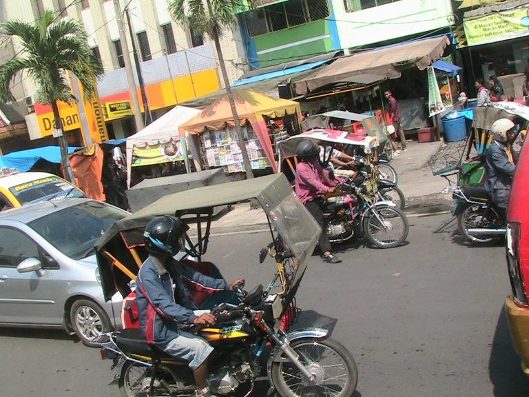 Around Medan, small bike-taxis (ojek) will transport you