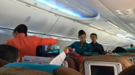 Garuda crew suprisingly efficient inflight