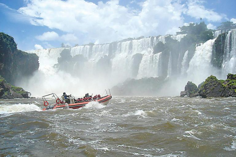 The Iguassu Falls are an impressive sight