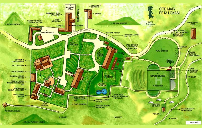 Official resort map (click to enlarge)