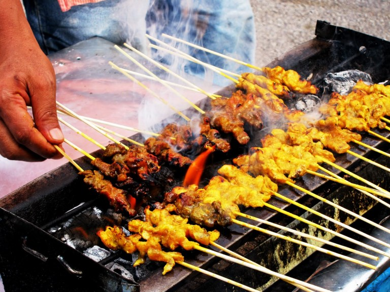 Satay is a street food favourite in Malaysia!