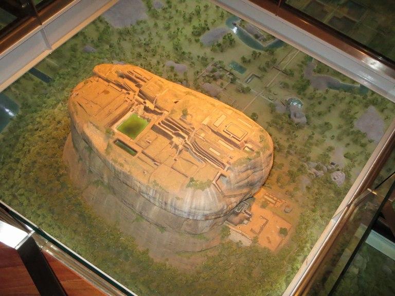 A model on display in the Sigiriya Archaeological Museum