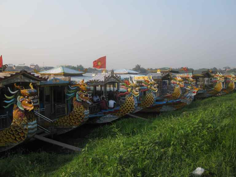 Dragon Boats along the Perfume River