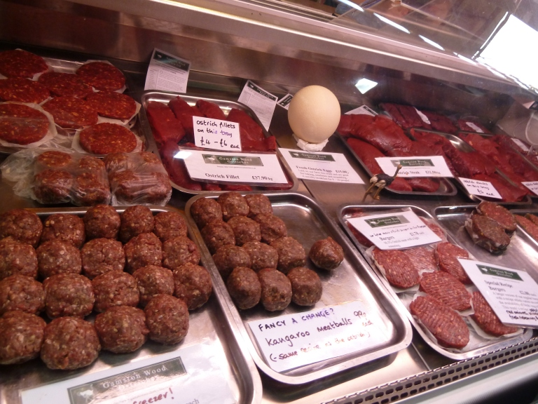 A selection of kangaroo meat cuts