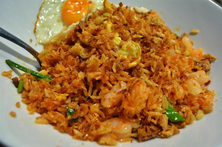 Nasi Goreng with shrimp