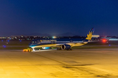 A new Airbus A350 in Vietnam Airlines livery