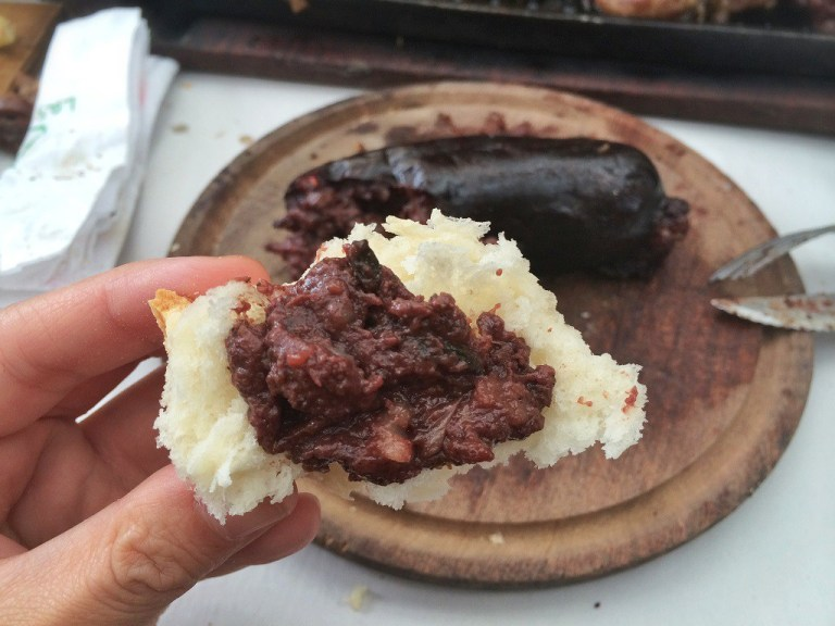 Blood Sausage - tastier than it looks!