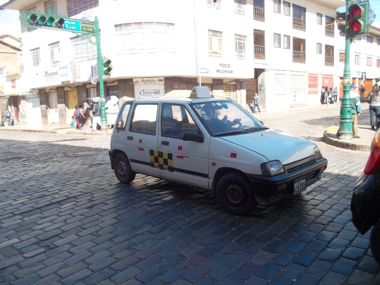A taxi in Cusco - small but perfectly formed