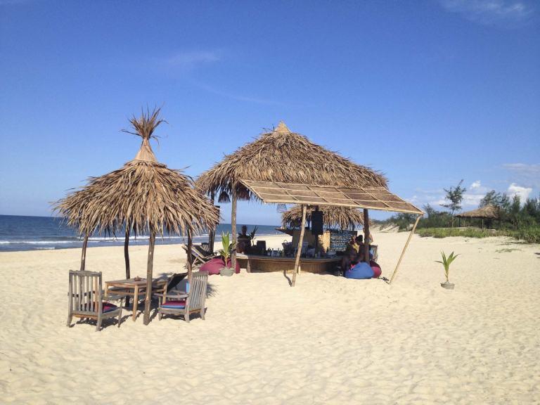 Plenty of beach bars beside the sea