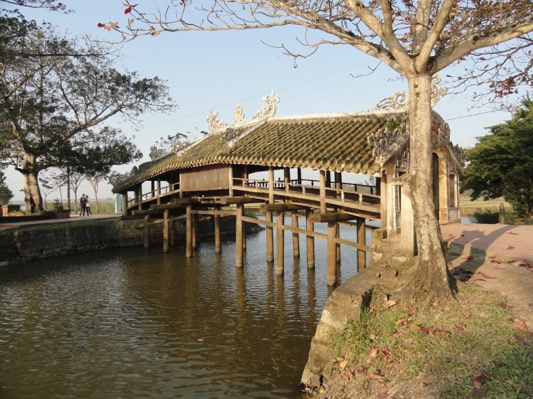 Quaint thatched bridges in Hue