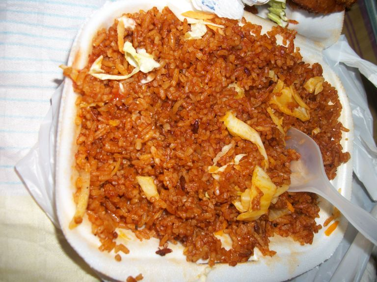 Jollof rice is eaten with almost everything!