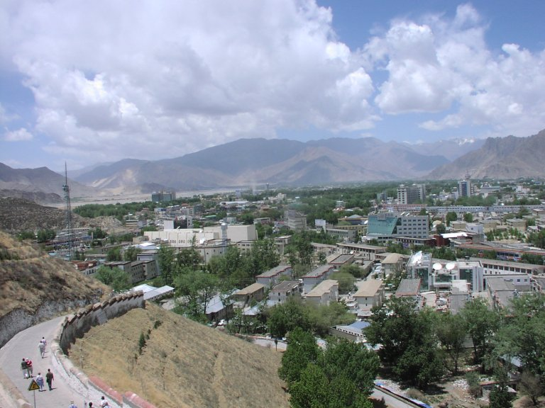 """Downtown"" Lhasa (the airport is out to the left)"