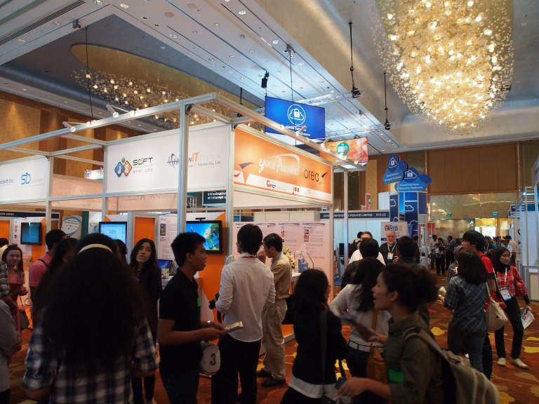 A lot of exhibition space at the Marina Bay Sands Expo