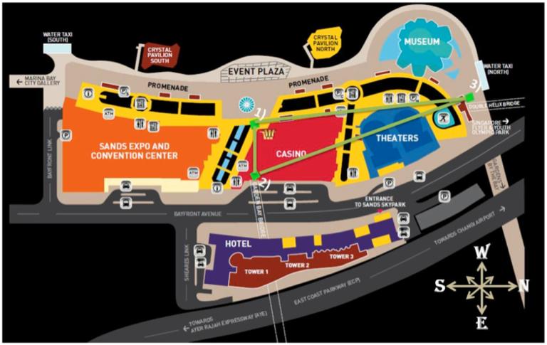 Map of Marina Bay Sands resort, 2016 (click to enlarge)