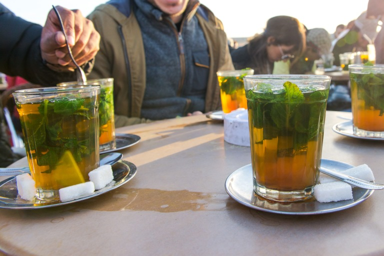 Everybody drinks Mint Tea in Morocco!