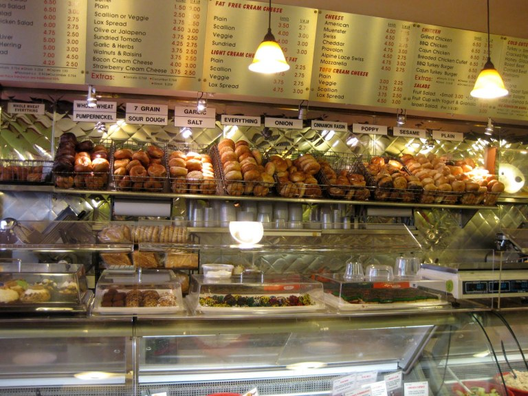 Bagels are one of the quintessential New York foods - they are sold EVERYWHERE!