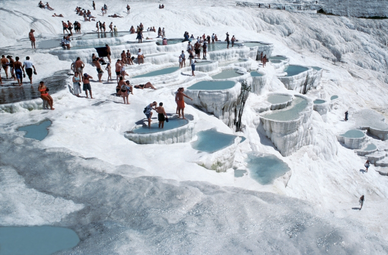 As you can imagine, Pamukkale gets very busy with tourists!