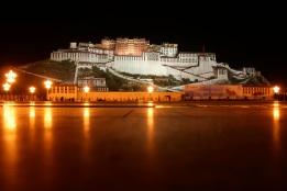 Tibet's Potala Palace at dusk