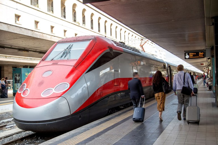 TrentItalia train at Rome's Termini Station