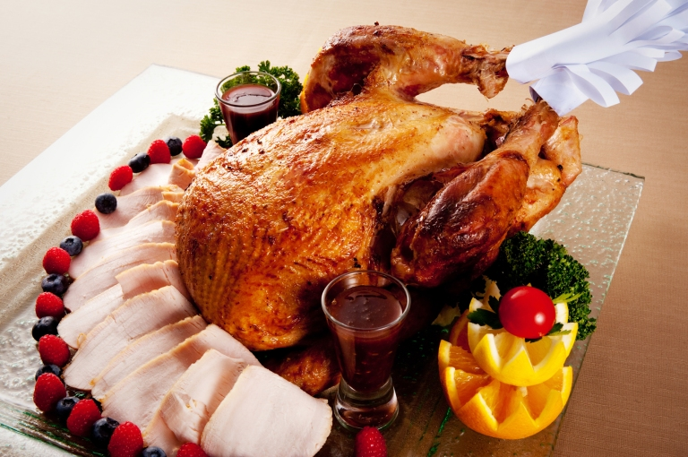 A traditional Turkey Roast in Britain