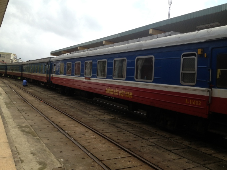 The Reunification Express train in Vietnam