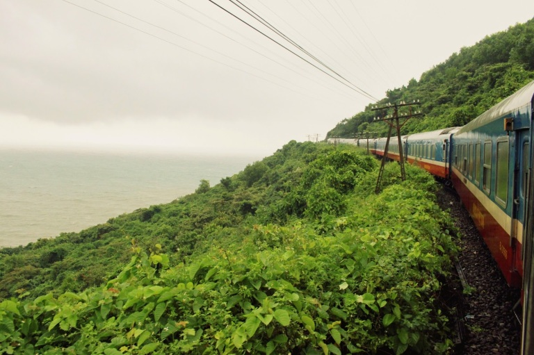 On the train between Hue and Danang the coastal scenery is incredible!