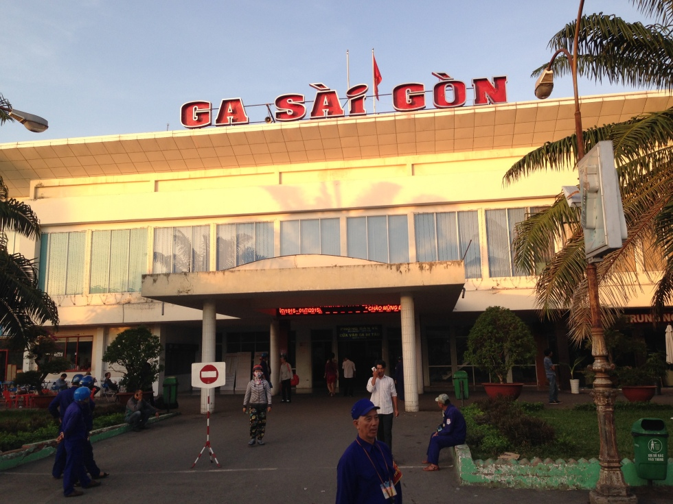 Saigon Train Station, the terminus for the Reunification Express