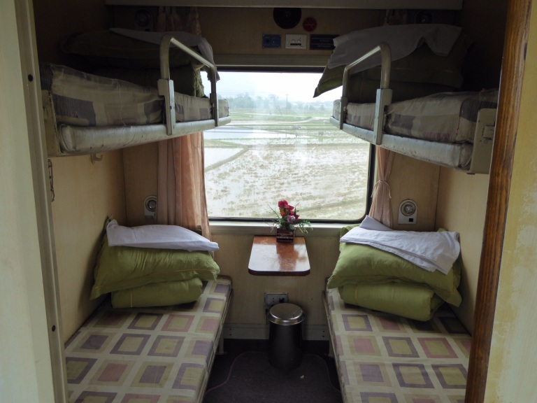 A soft sleeper cabin on the Reunification Express