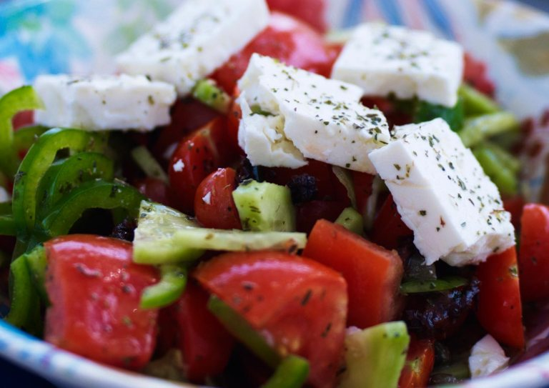 A classic Greek Salad